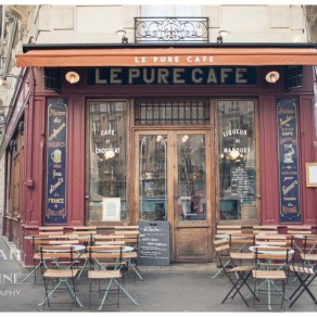 the front of le pure cafe in paris france