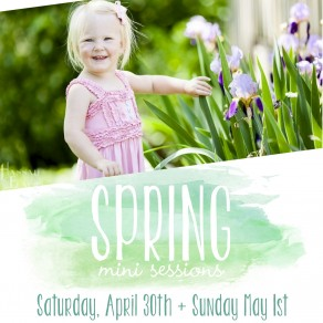 a digital flyer for spring mini sessions in the nashville franklin and leiper