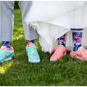 custom bride and groom, his and hers, nike sneakers