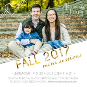 infographic for fall 2017 mini sessions in nashville